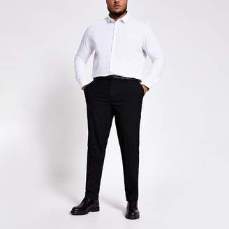 River Island Big and Tall black smart trousers