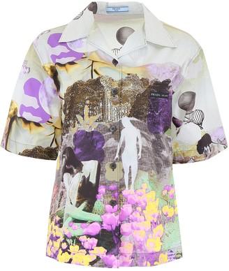 Prada Graphic Printed Short-Sleeve Shirt