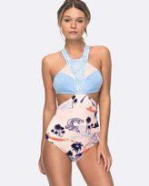 Roxy Womens Pop Surf High Neck One Piece Swimsuit
