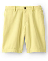 """Classic Men's Traditional Fit 9"""" Plain Front Casual Chino Shorts-Washed Vintage Indigo"""