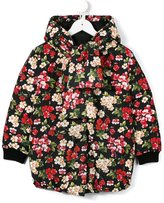 Dolce & Gabbana floral print padded coat - kids - Feather Down/Polyamide/Polyester - 4 yrs