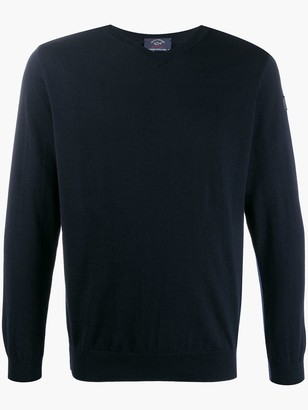 Paul & Shark V-neck knitted sweater