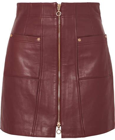 55f0e4a5c Burgundy Leather Skirt - ShopStyle
