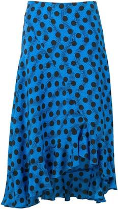 Kenzo Blue Polka Dot Skirt