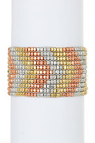 Stephan & Co Beaded Stretch Metal Bracelet