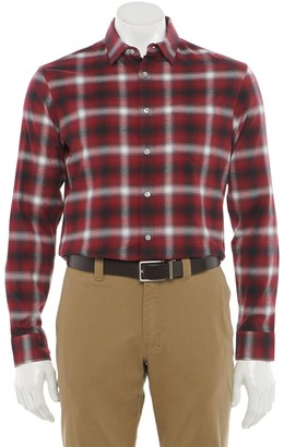 Apt. 9 Men's Seriously Soft Regular-Fit Stretch Flannel Button-Down Shirt