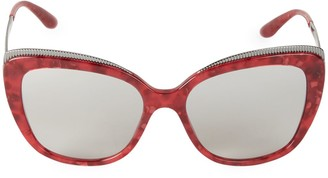 Dolce & Gabbana 57MM Oversized Cat Eye Sunglasses