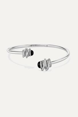 de Grisogono Toi & Moi 18-karat White Gold, Diamond And Onyx Cuff - one size