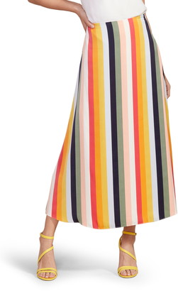 Cupcakes And Cashmere Pippa Stripe Midi Skirt