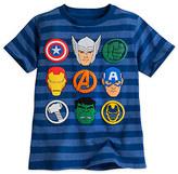 Disney Avengers Striped Tee for Boys