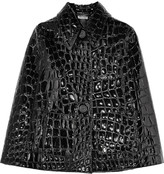 Miu Miu Croc-effect faux patent-leather cape