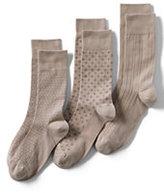 Classic Men's Basic Cotton Pattern Dress Socks (3-pack)-Cinnabar Donegal