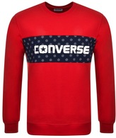 Converse Colour Block Logo Sweatshirt Red
