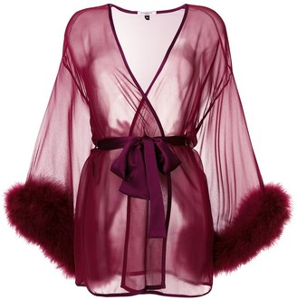 Gilda & Pearl Sheer Tie-Waist Robe