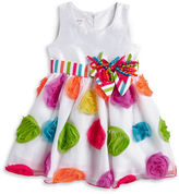 Iris & Ivy Girls 2-6x Little Girls Rosette Tulle Fit-and-Flare Dress