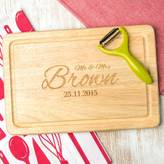 Dust and Things Mr And Mrs Name And Date Personalised Chopping Board