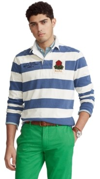 Polo Ralph Lauren Men's Classic-Fit Striped Jersey Rugby Shirt