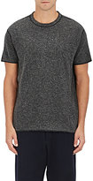 Nlst Men's Heathered Knit T-Shirt-Dark Grey Size L