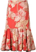 Tome embroidered flowers pleated skirt - women - Silk - 0