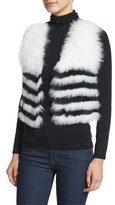 Neiman Marcus Fox-Fur Cropped Vest