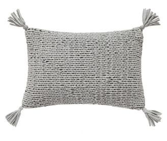 Splendid Knitted Jersey Decorative Pillow in Heather Grey