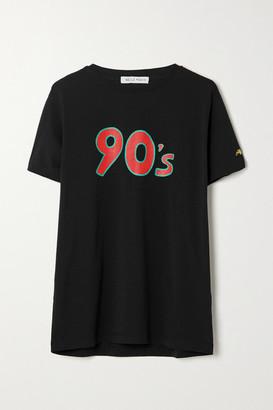Bella Freud Printed Cotton-jersey T-shirt - Black