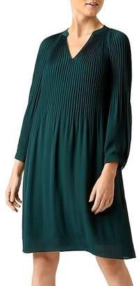 Hobbs London Emilia Pleated Shift Dress