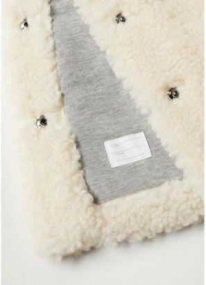 MANGO Girls Faux Fur Hooded Coat - Cream