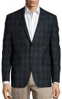 Black & Brown Black Brown Henry Fit Plaid Wool Jacket