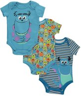 "Monsters, Inc. Baby Boys' ""Face Medley"" 3-Pack Bodysuits"