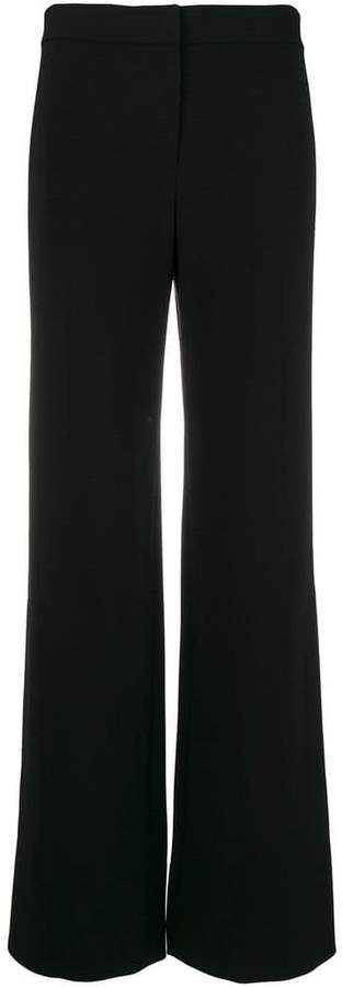 Theory side slit flared trousers