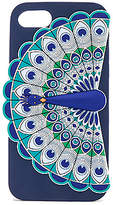 Kate Spade Silicone Peacock iPhone 7 Case in Navy.