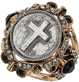 Topshop Cross Coin Ring