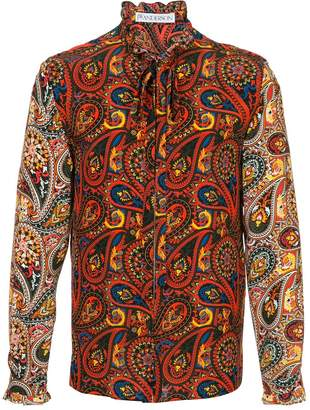 J.W.Anderson men's paisley zip-through shirt