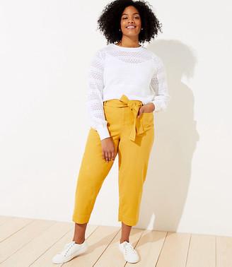 LOFT Plus Slim Tie Waist Ankle Pants