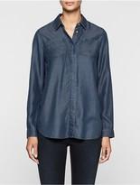 Calvin Klein Chambray Boyfriend Shirt