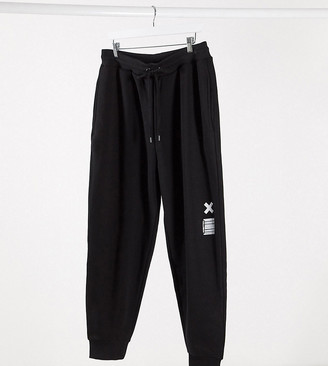 COLLUSION plus exclusive joggers in black