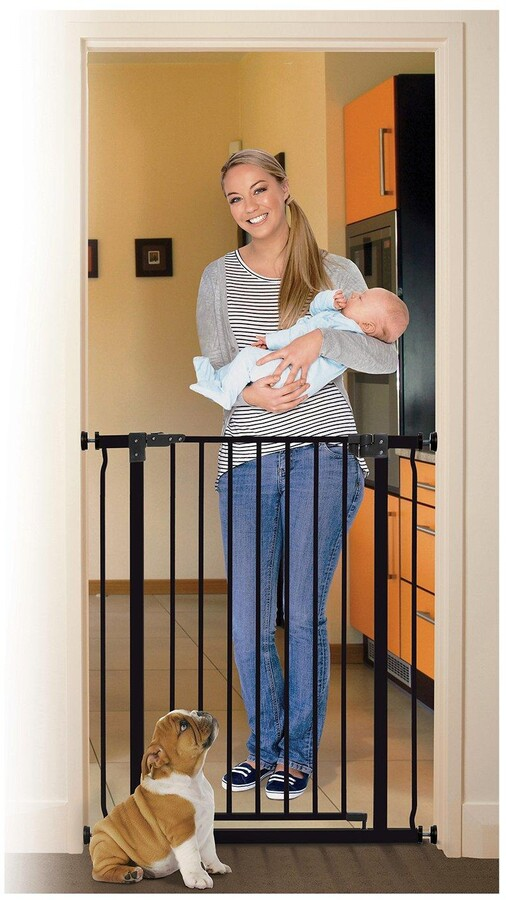Dream Baby Dreambaby Liberty Xtra Tall Gate (Fits 75-81Cm, Height 93Cm) - Black/Metal
