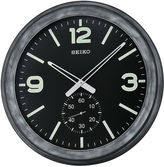 Seiko Wall Clock With Second Hand Subdial BlackQxa627klh