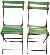 One Kings Lane Vintage Mid-Century French Bistro Chairs - Set of 2