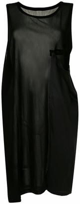 Y's Sheer Drape-Detail Tank Top