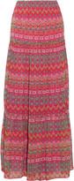Diane von Furstenberg Baylee pleated printed silk maxi skirt