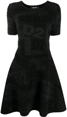 DSQUARED2 Logo Knitted Dress