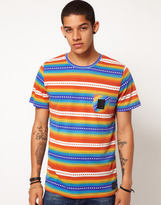 B Side By Wale Diamond Tee Print Chest Pocket