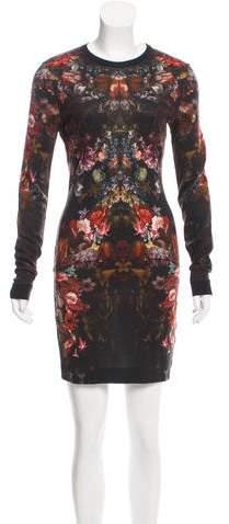 Alexander McQueen Long Sleeve Floral Dress