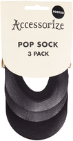 Accessorize 3 Pack Sheer Footsie Socks