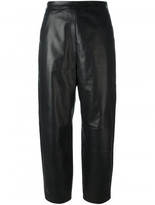 Neil Barrett leather cropped pants