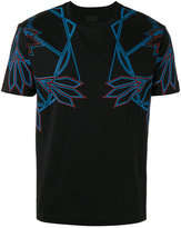 Les Hommes line print T-shirt - men - Cotton - XL
