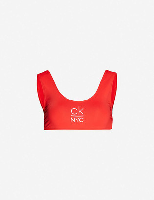 Calvin Klein NYC scoop-neck bikini top