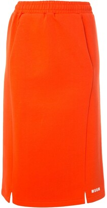 MSGM Elasticated Waistband Straight Skirt